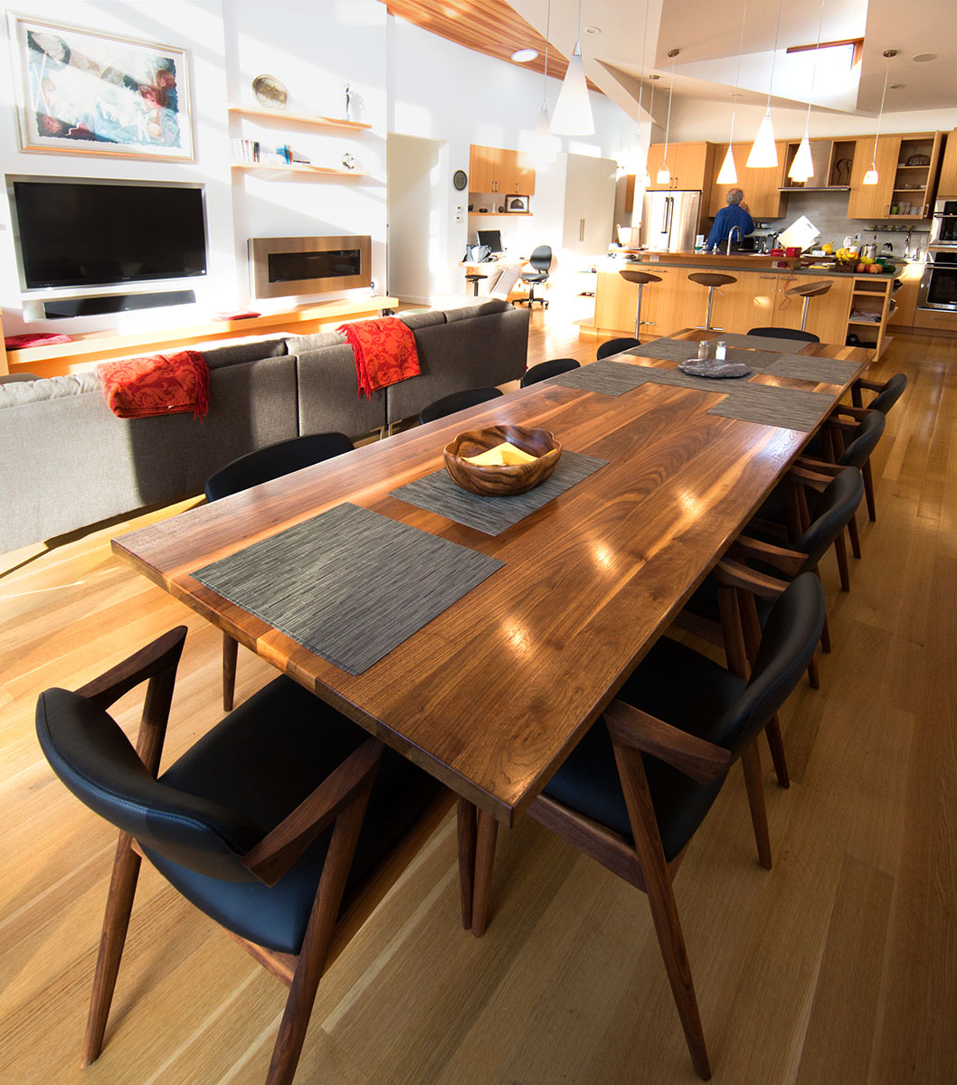 dining table mapleart custom wood furniture vancouver bc