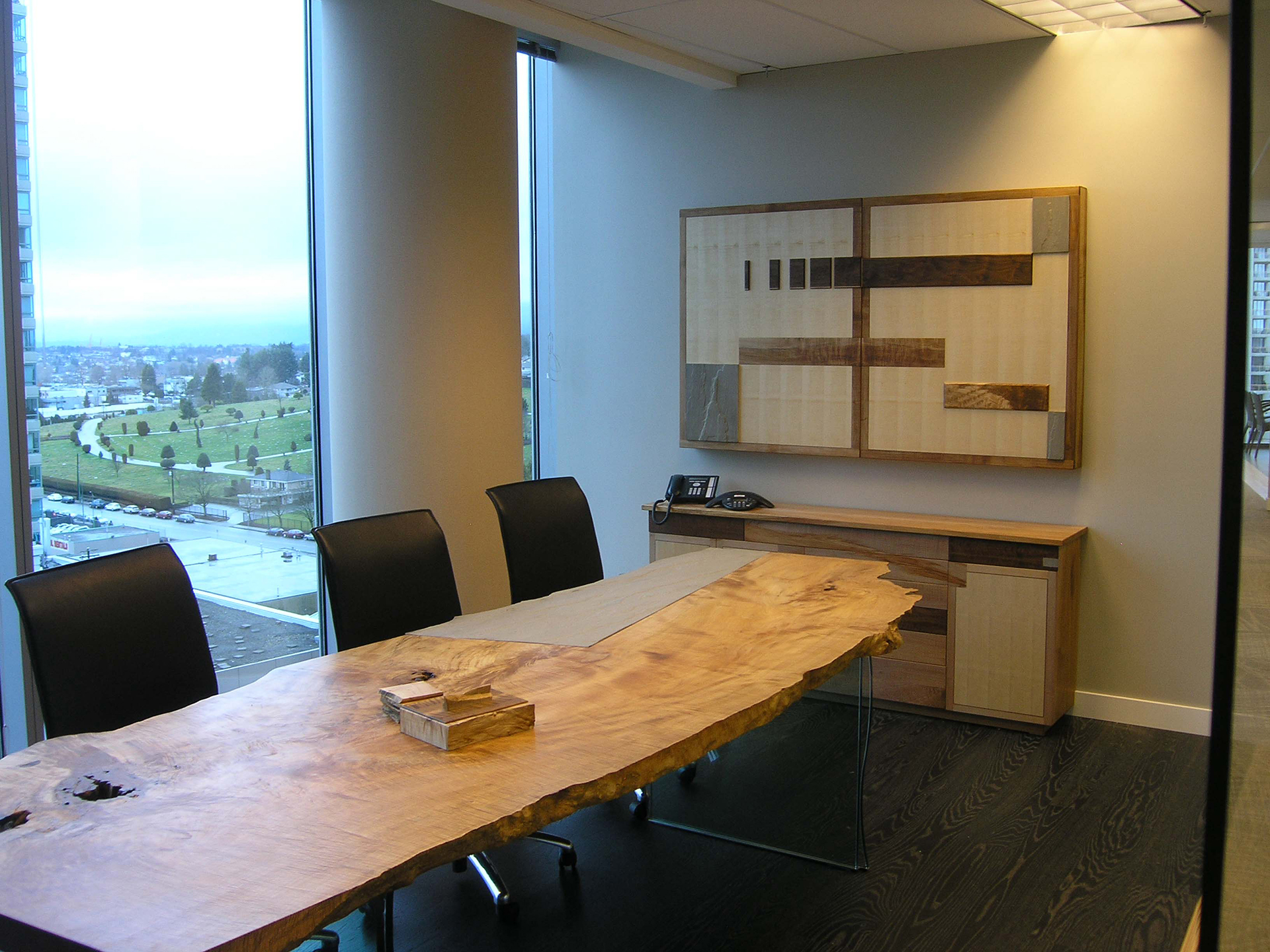 The Design Of This White Board / Projection Screen Was Made To Match The  Décor In The Boardroom. It Features Maple, Walnut, Rock And A Magnetic  Backing To ...