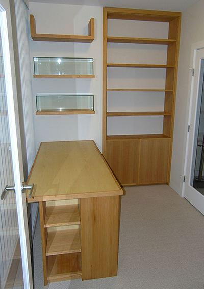 Chestnut Desk and Bookshelf
