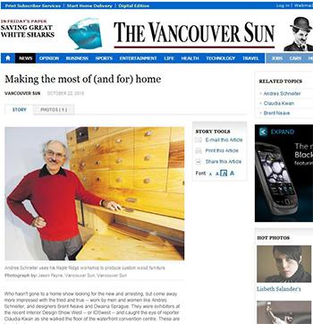 Vancouver Sun News Story