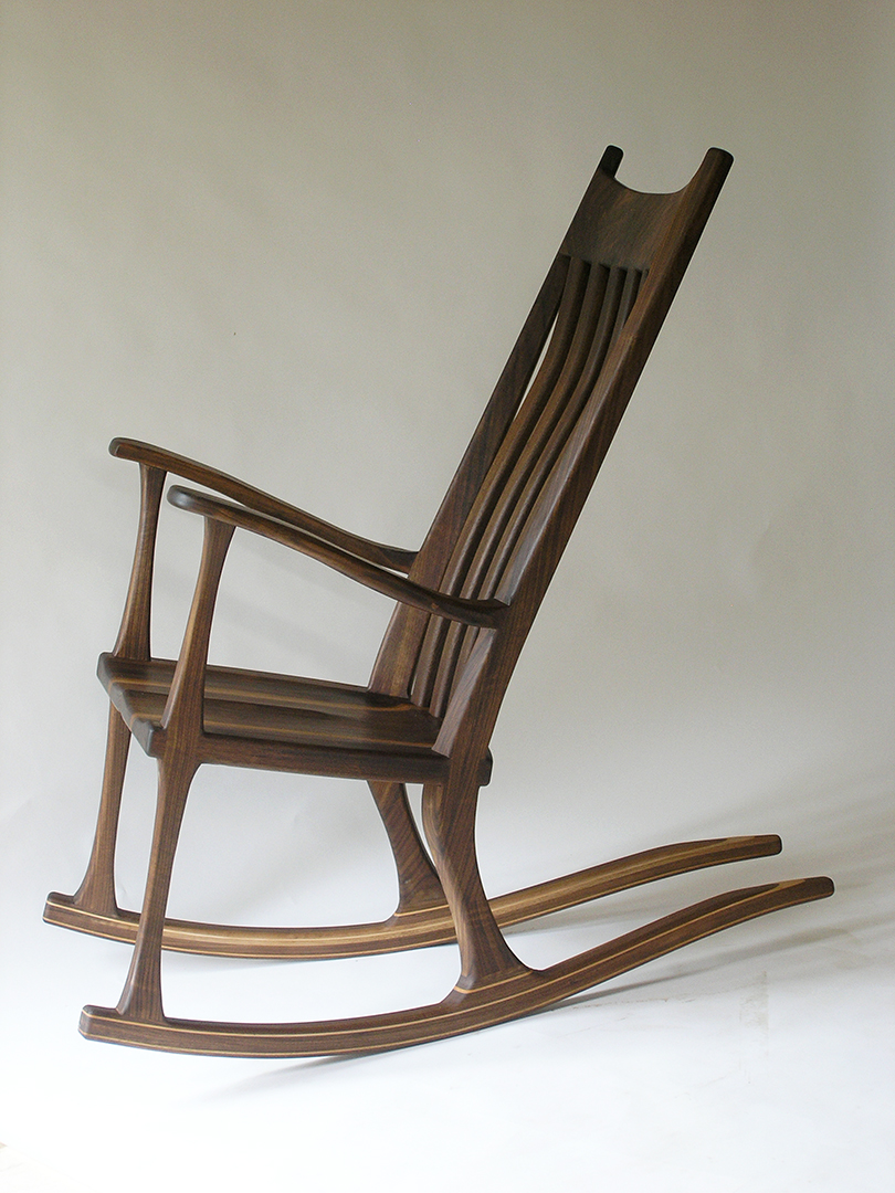 ... Walnut Rocking Chair - MapleArt: Custom Wood Furniture, Vancouver, BC