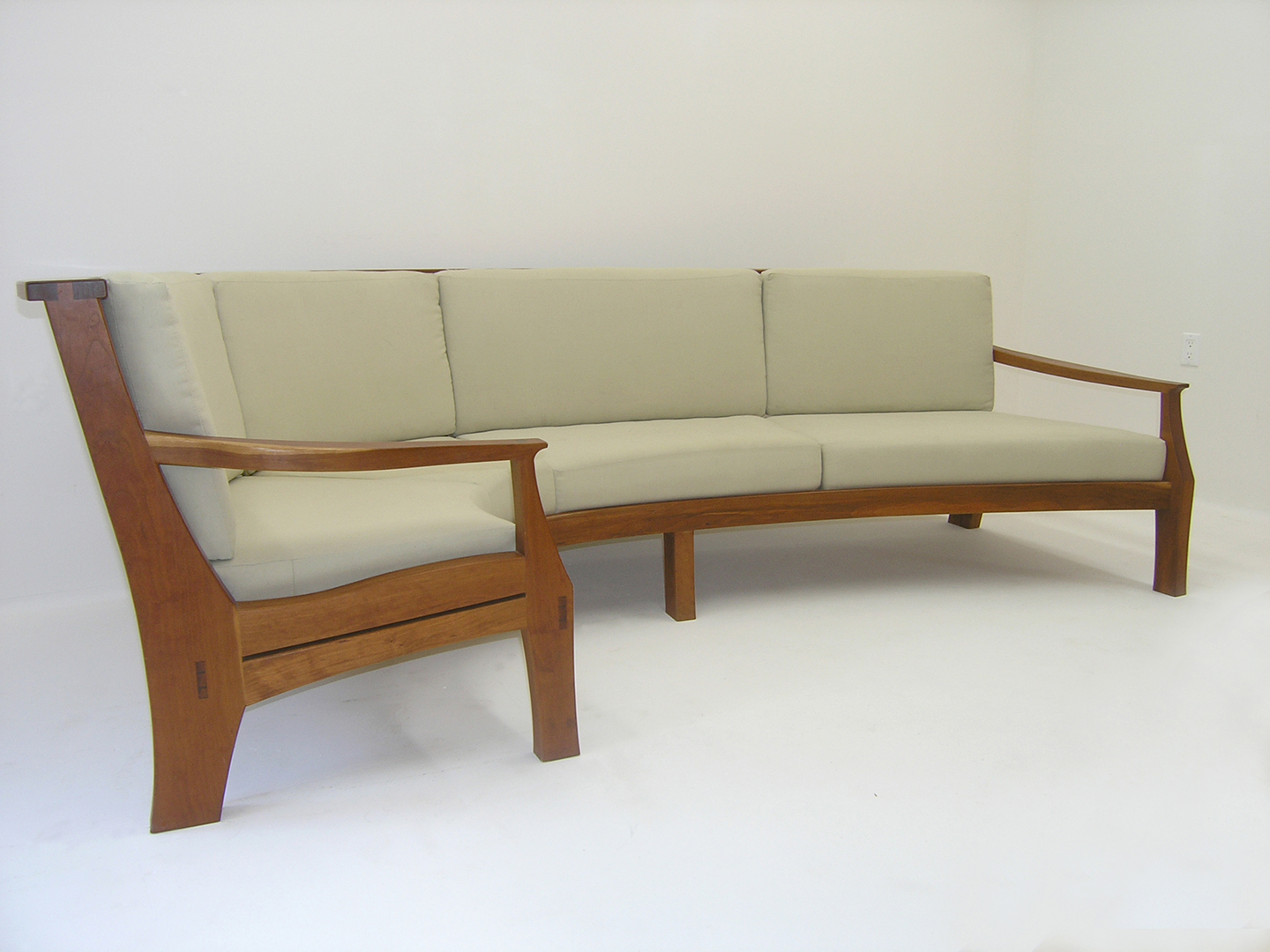 bcgentian sofa mapleart custom wood furniture vancouver bc